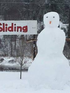 Snowman at Cedar Hill