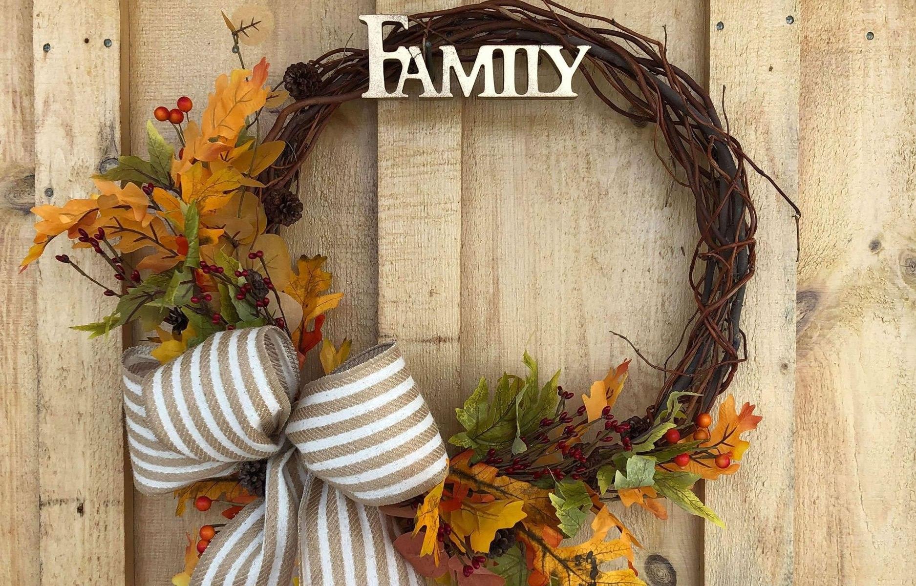 Autumn styled wreath
