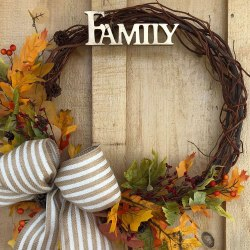 Autumn styled wreath
